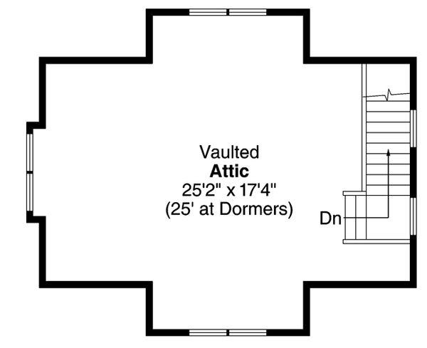 Craftsman Floor Plan - Upper Floor Plan Plan #124-891