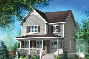 Country Exterior - Front Elevation Plan #25-4605