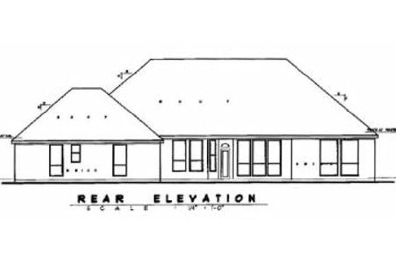 European Exterior - Rear Elevation Plan #62-115 - Houseplans.com