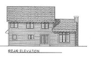 Traditional Style House Plan - 4 Beds 2.5 Baths 1999 Sq/Ft Plan #70-278 Exterior - Rear Elevation