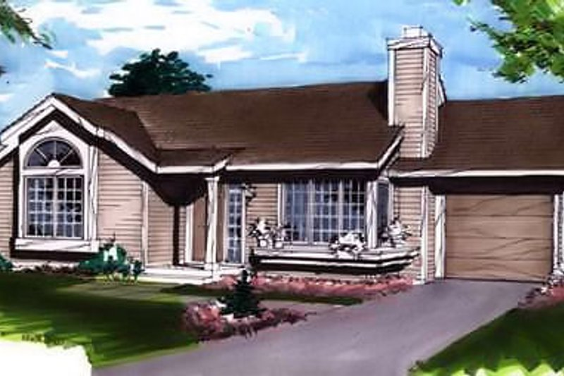 Dream House Plan - Ranch Exterior - Front Elevation Plan #320-329