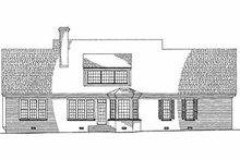 Southern Exterior - Rear Elevation Plan #137-160