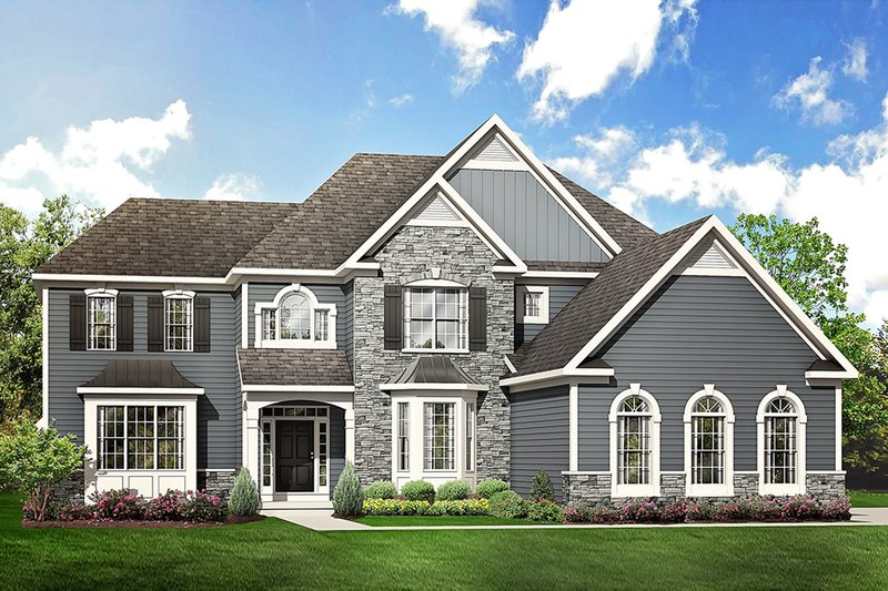 Architectural House Design - Colonial Exterior - Front Elevation Plan #1010-217