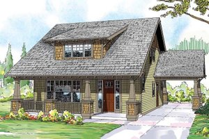 Craftsman Exterior - Front Elevation Plan #124-844