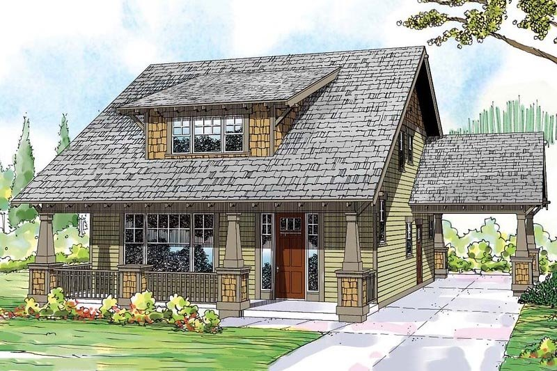 Dream House Plan - Craftsman Exterior - Front Elevation Plan #124-844