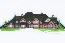Dream House Plan - European Exterior - Front Elevation Plan #5-453