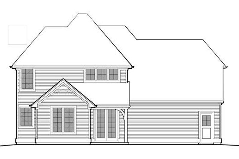 Traditional Exterior - Rear Elevation Plan #48-507 - Houseplans.com