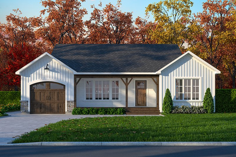 Architectural House Design - Ranch Exterior - Front Elevation Plan #23-699