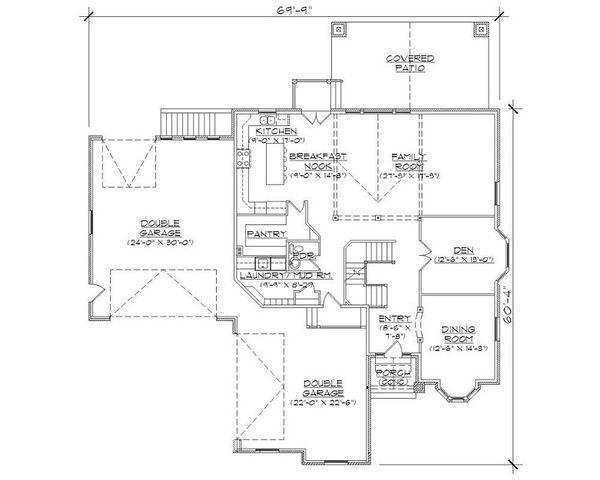Bungalow Floor Plan - Main Floor Plan Plan #5-407