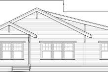 Home Plan - Bungalow Exterior - Rear Elevation Plan #434-7
