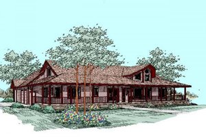 Country Exterior - Front Elevation Plan #60-265