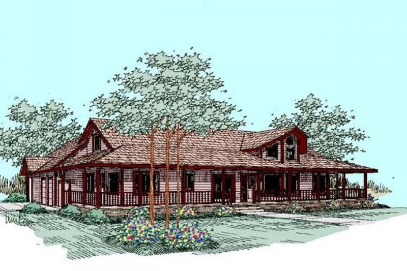 Country Exterior - Front Elevation Plan #60-265 - Houseplans.com