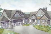 Country Style House Plan - 3 Beds 3.5 Baths 3947 Sq/Ft Plan #928-333 Exterior - Front Elevation