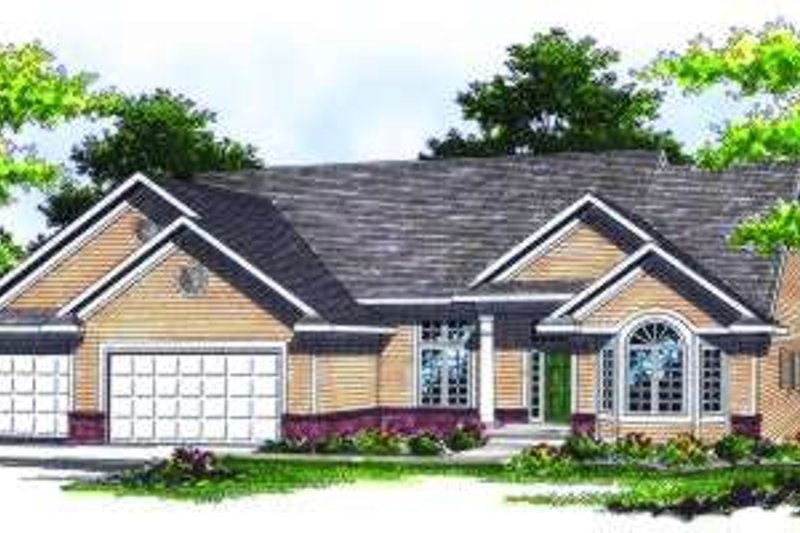 Traditional Exterior - Front Elevation Plan #70-786 - Houseplans.com