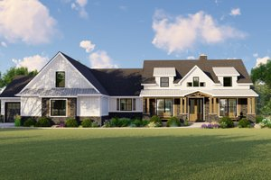 Dream House Plan - Farmhouse Exterior - Front Elevation Plan #1064-116