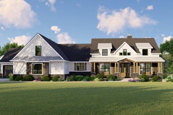 Farmhouse Exterior - Front Elevation Plan #1064-116