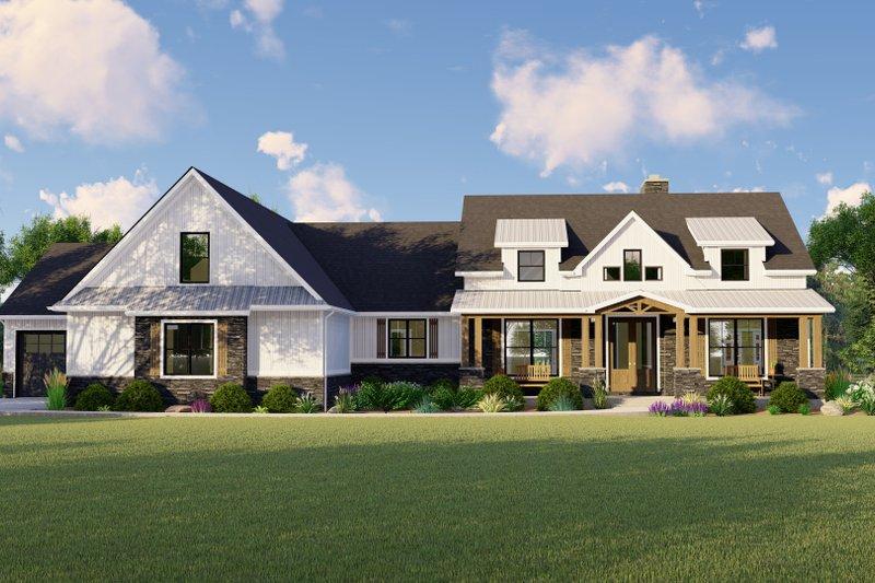 House Plan Design - Farmhouse Exterior - Front Elevation Plan #1064-116