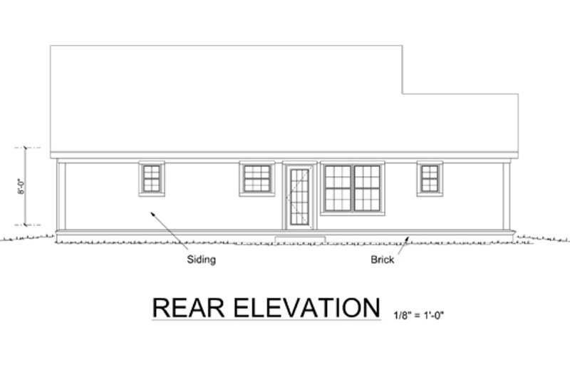 Traditional Exterior - Rear Elevation Plan #513-2053 - Houseplans.com