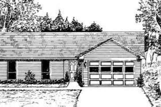 Ranch Exterior - Front Elevation Plan #30-146