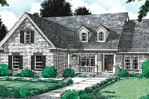 Traditional Exterior - Front Elevation Plan #20-232
