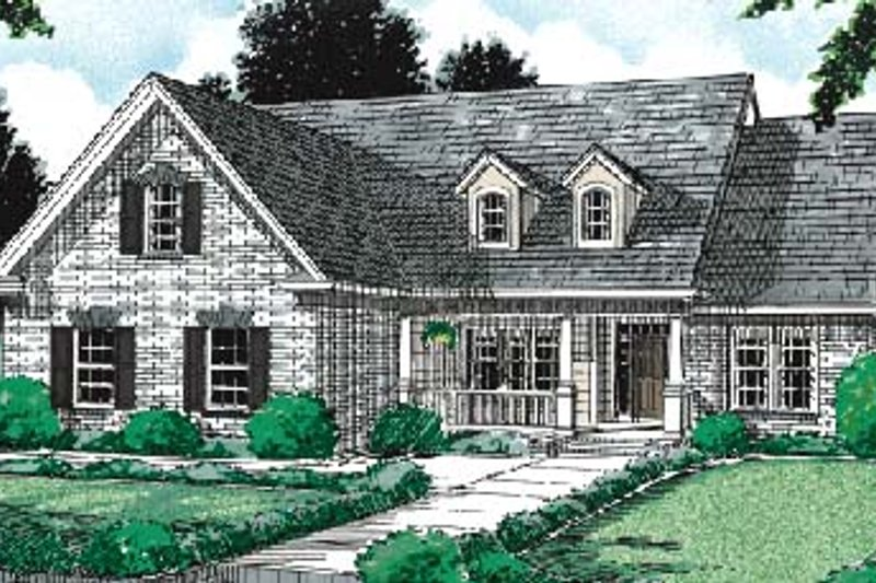 Architectural House Design - Traditional Exterior - Front Elevation Plan #20-232