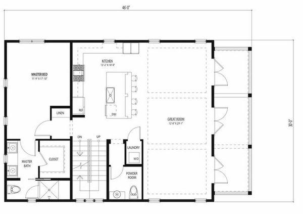 Beach Floor Plan - Main Floor Plan Plan #443-12