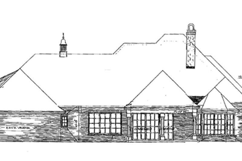 European Exterior - Rear Elevation Plan #310-281 - Houseplans.com