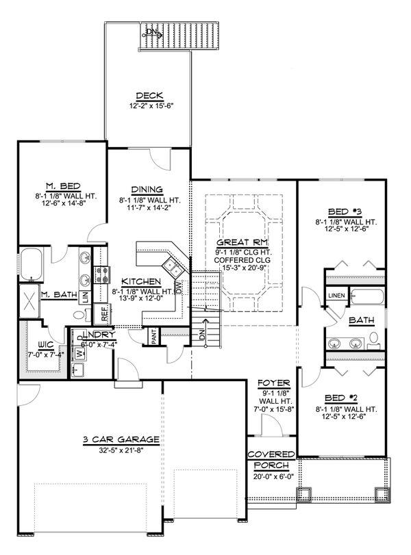 Dream House Plan - Ranch Floor Plan - Main Floor Plan #1064-70