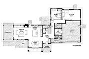 Contemporary Style House Plan - 4 Beds 3.5 Baths 3334 Sq/Ft Plan #1042-19 Floor Plan - Main Floor Plan