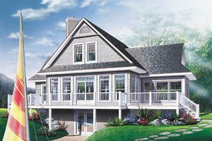 Home Plan - Traditional Exterior - Front Elevation Plan #23-2067