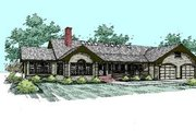 Craftsman Style House Plan - 3 Beds 2 Baths 2576 Sq/Ft Plan #60-288 Exterior - Front Elevation