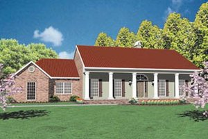 Southern Exterior - Front Elevation Plan #36-185