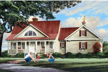 House Design - Country Exterior - Front Elevation Plan #137-296