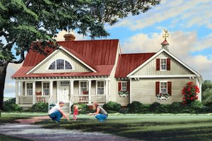 Dream House Plan - Country Exterior - Front Elevation Plan #137-296