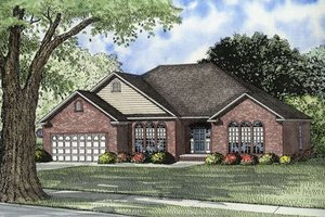 Traditional Exterior - Front Elevation Plan #17-545