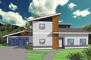 Modern Style House Plan - 4 Beds 3 Baths 2177 Sq/Ft Plan #518-9 Exterior - Front Elevation