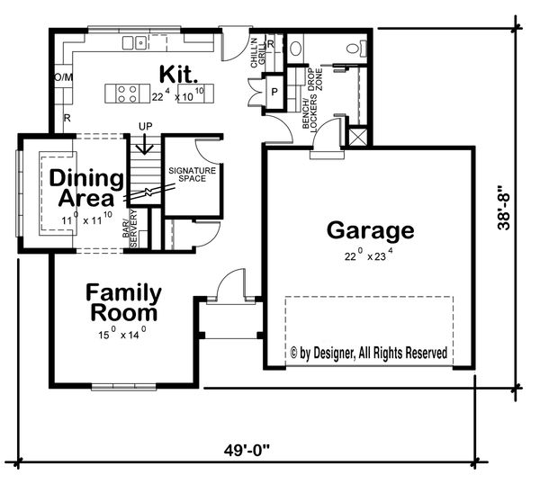 Traditional Floor Plan - Main Floor Plan Plan #20-2273