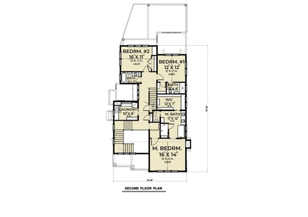 Farmhouse Floor Plan - Upper Floor Plan #1070-112