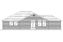 House Plan Design - Ranch Exterior - Rear Elevation Plan #5-232