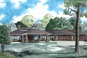 European Style House Plan - 4 Beds 4.5 Baths 4831 Sq/Ft Plan #17-2559 Exterior - Front Elevation