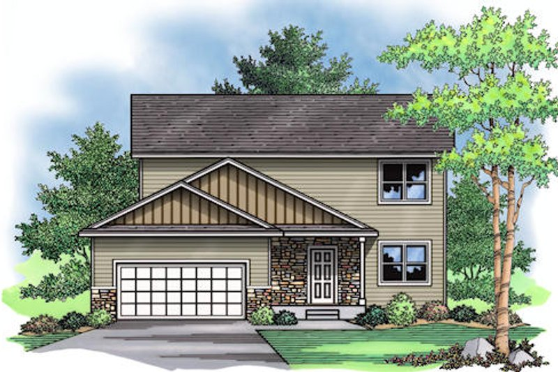 Traditional Exterior - Front Elevation Plan #51-378