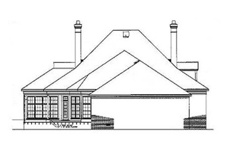 Southern Exterior - Rear Elevation Plan #45-170 - Houseplans.com
