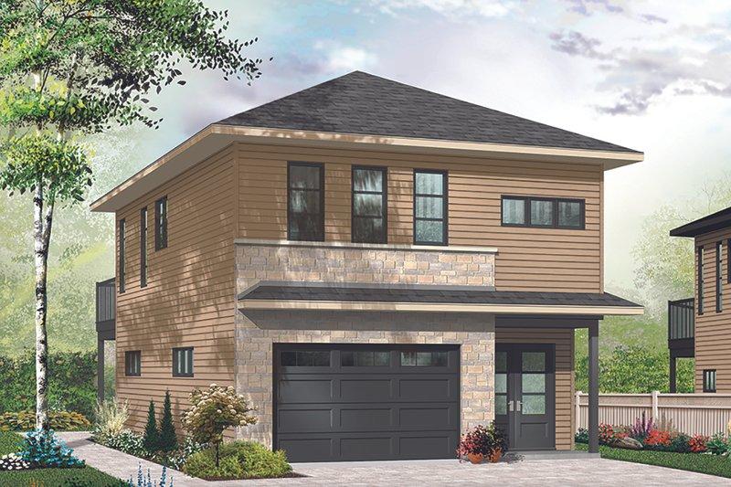 Architectural House Design - Modern Exterior - Front Elevation Plan #23-2710