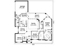 Traditional Floor Plan - Main Floor Plan Plan #84-558