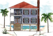 Home Plan - Beach Exterior - Front Elevation Plan #37-129