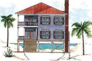 House Design - Beach Exterior - Front Elevation Plan #37-129