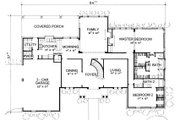 Classical Style House Plan - 4 Beds 4.5 Baths 3559 Sq/Ft Plan #472-1 Floor Plan - Main Floor Plan