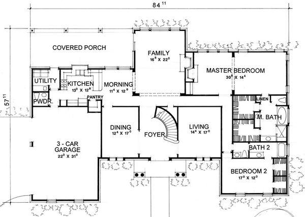 Classical Floor Plan - Main Floor Plan #472-1