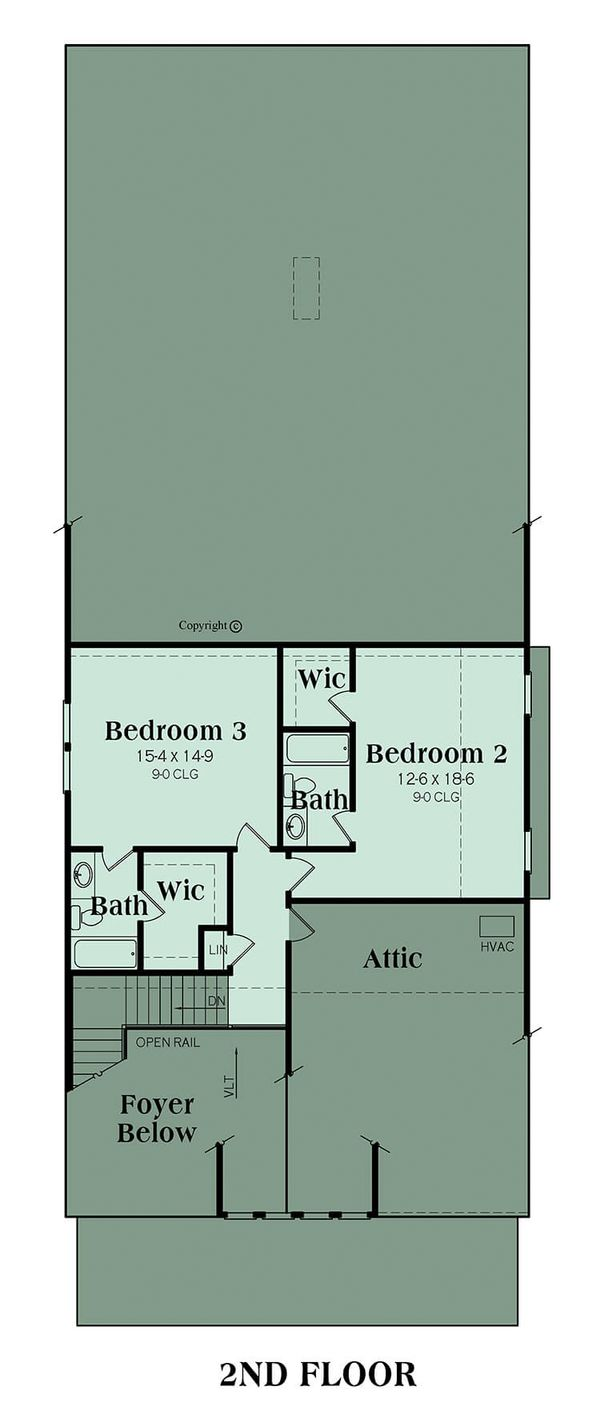 Bungalow Floor Plan - Upper Floor Plan Plan #419-239