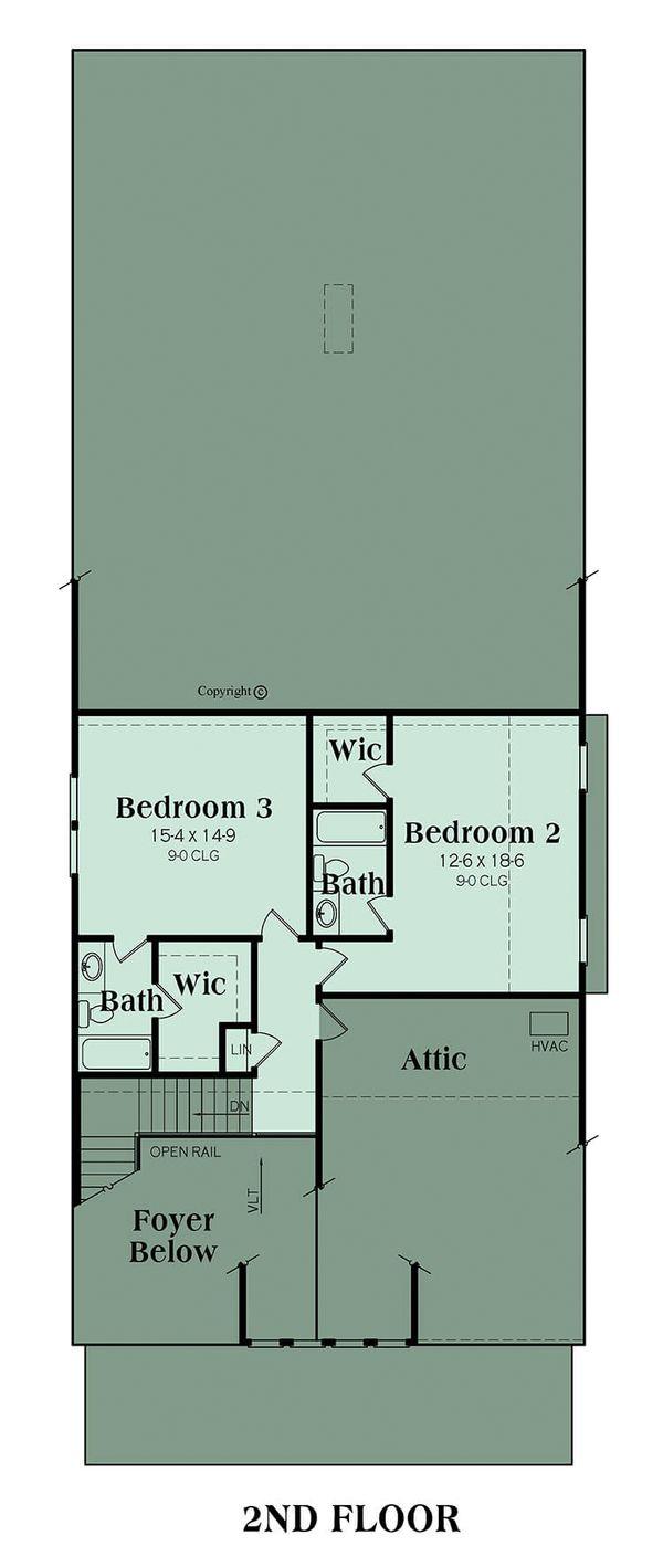 Bungalow Floor Plan - Upper Floor Plan Plan #419-239
